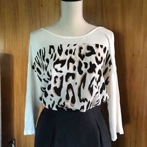 Lord and Taylor animal print tee